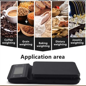Coffee Scale 3kg 0.1g LCD Digital High Precision 0.1g Kitchen Bench Scale Intelligent Baking Countdown Weighing Scales Measurement