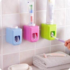 목욕 액세서리 세트 자동 치약 디스펜서 접착제 홀더 욕실 액세서리 치아 붙여 넣기 튜브 압착기