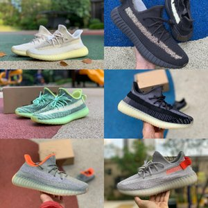 High Quality New Kanye West V2 Reflective Mens Natural Fade Asriel Tail Light Yecheil Flax Zyon Cinder Running Shoes Women Designers Sneaker