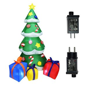 210CM LED Lighting Inflatable Christmas Tree Air Pump Model Blowing Balloon Toy Decoration Birthday Christmas New Year Family