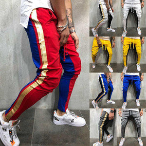 JH New Autumn Men Slim Fit Trousers Tracksuit Bottoms Stiped Skinny Joggers Long Sweat Pants M - 2XL Sizes