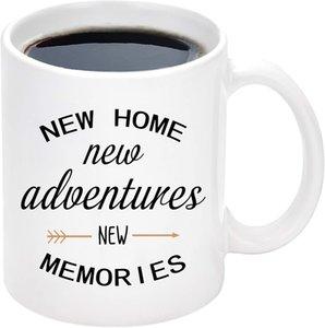 새로운 홈 모험 추억 머그잔 새로운 가정용 집들이 머그잔 11 온스