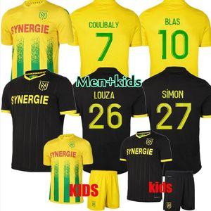 20 21 FC Nantes Soccer Jerseys Home Away Maillot de Nantes 2020 2020 2021 Simon Louza A Toue Blas Coco Coulibaly Jersey Football Jersey Hommes Kit enfants