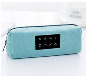 Korea Creative School Pencil Case Pen Bags Large Capacity Canvas Pen Box For Boy Girl Kids Gift School Supplies Stationery jllXSv