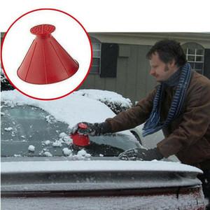 DHL Expédition Nouveau Windows Magical Bindshield voiture grattoir de glace Remoulement de neige Flocon d'entonnoir en forme de cône Outil de nettoyage de ménage 4 couleurs PPA1889