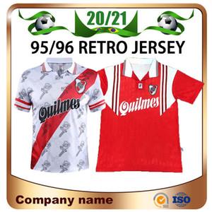1995/1996 Retro Version River Plate Soccer Jerseys 95/96 Inicio Caniggia Francescoli Camisas de Futebol Camisa de fútbol Calidad Uniformes de fútbol