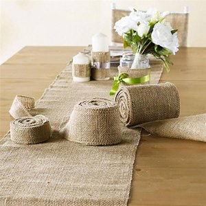 Jute Solid Color Anti-Slip Home Bedroom Living Room Carpet Table Decoration Mat Dining Table Mats Wedding Party Supply