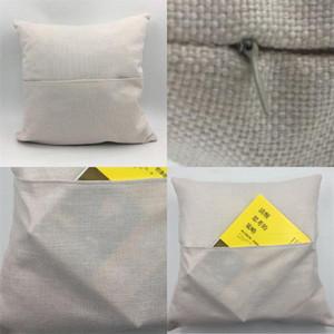 Cubierta de ropa de lino Sublimación Blank Book Pocket Fundas de almohada de textiles para el hogar Decoración de color sólido Durable de alta calidad 6 2YJ M2