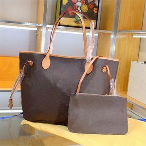 2 pçs / set clássico designer mulheres bolsas de flor senhoras bolsas de couro embreagem de couro bolsas de ombro bolsa feminina com carteira número de série