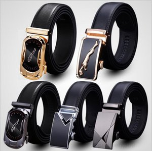 MEN'S Genuine Waist Belts Leisure Business Leather Belt New High Quality Automatic Buckle Cowskin Strap OWC3687
