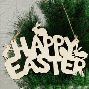 Feliz Páscoa Coelho Pingentes De Madeira Letras De Madeira Ornamento Diy DIY Pingentes Pingentes Cute Bunny Easter Decoração Partido Presentes Favor E122504