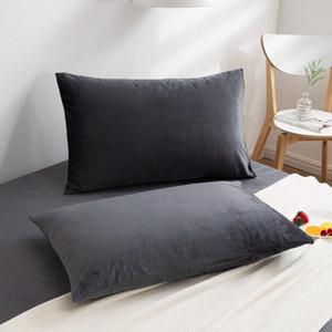 Lrea 1 ADET Yastık Kılıfı Tek Katı Renk Yastık Lüks Yastık Kılıfı Yatak Atmak 48x74 cm Rahat 201212