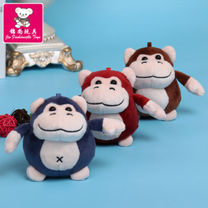 고릴라 인형 펜던트 키 체인 작은 창조적 인 자이언트 침팬지 자동차 가방 다이아몬드 플러시 장난감 Unl2