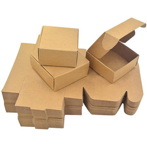 Paper Handmade Soap Box Brown Paper Candy Accessories Box Kraft DIY Gift Packing Box(50Pcs)