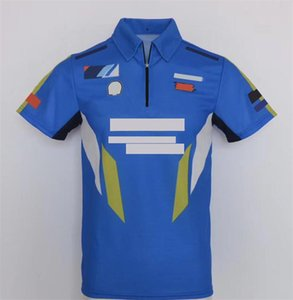 Nouveau produit Vente chaude Été à la moto hors route Locomotive Locomotive Zipper Polo Chemise Vitesse T-shirt T-shirt Racing Jersey Top