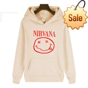 New Nirvana trendy street english Hooded personalized men's and women's fleece Sweater