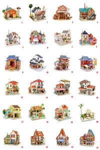 3D PUZZLE Creative wooden craft gifts DIY puzzle three-dimensional home furnishing accessories 24 designs available