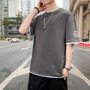 Legible 2020 Summer T-Shirt Men Casual Loose Short Sleeve T Shirts Hip Hop Streetwear Tops Tees Male Tshirt 1117