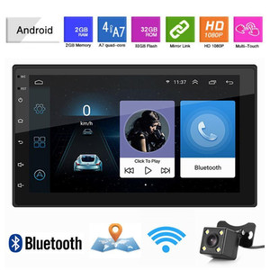 "2 DIN Android 9.1 자동차 라디오 GPS 네비게이션 7 ""2 + 32G 유니버셜 자동 오디오 스테레오 자동차 멀티미디어 플레이어 플레이어 블루투스 USB1"