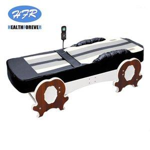 Coréia Electric S-Forma faixa de corpo inteiro Jade térmico de aquecimento de massagem Roller Bed1