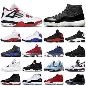 air jordan 4 retro 13 Chaussures de basket hommes jumpman 11s Jubilee 25th Anniversary 11 4s feu rouge Black Cat Bred 13s Red Flint Hyper Royal hommes femmes baskets