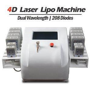 Профессиональный портативный диодный липолязер Lipo лазерная потеря веса неинвазивные 12 прокладки 650 нм980 нм похудение машины для похудения