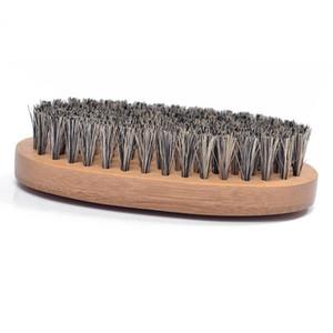 الخبز الطبيعي الشعر شعيرات اللحية الشارب فرشاة حلاقة مشط الرجال الوجه تدليك جولة الخشب مقبض اليدوية اللحية فرش BH4467 DBC