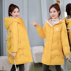 Print Women Winter Jacket Long Fashion Warm Coats Hooded Thicken Parkas Outerwear Plus Size S-3XL Padded Clothes Ladies 2020 New