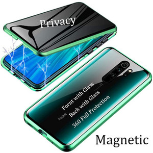 New Magnetic Case For Xiaomi Redmi Note 9 Pro Max 9S 8 Pro 8T K20 K30 Pro Magnet Metal Double Side Tempered Glass Cover