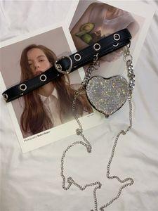 Full of love small bag women's bel ins mini diamond chain dual purpose oblique span belt small All-match bag tide luxurys designers bags