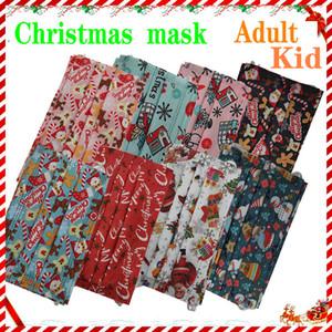Noel Karikatür Çocuklar Yetişkin Maskesi Tasarımcı Yüz Maskeleri Moda Çocuk Maskesi Çocuk 3 Katmanlı Tek Kullanımlık Maske Koruyucu Erkek Kız Mascarilla