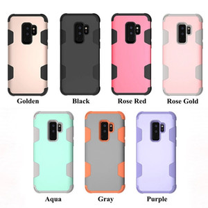 Luxury Shockproof Armor Phone Case For Samsung Galaxy S9 S8 S10 Plus S10e TPU Silicon+Hard Rubber 360 full Protection Case Cover