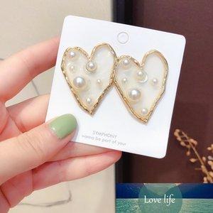 Серьги моды OL STED для женщин Корея модная девушка сладкий простые прозрачные сердца звезды жемчужные серьги ювелирные изделия аксессуары