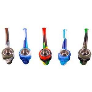 Silicone pipe new creative ghost pipe with glass bowl silicone pipe factory direct sales Heat resistant