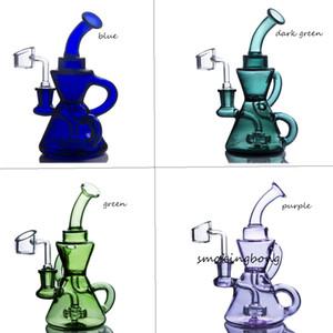 Beader Bong Reciclador Plataformas de petróleo Fumar Piezas de BONG PECHESO Recuperación de Aceite Catcher Glass Agua Tubos Para Fumar Accesorios Hookahs Shisha con Banger de 14mm