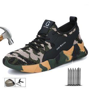 Yadibeiba плюс размер зимние обувь мужская стальная носящая крышка защитная рабочая обувь неразрушимые сапоги мужские зимние ботинки1