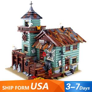 В наличии 16050 Идеи серии фильмов Старый рыболовный магазин Beach Resort House Строительный блок Кирпичи Игрушки Подарок для детей 21310