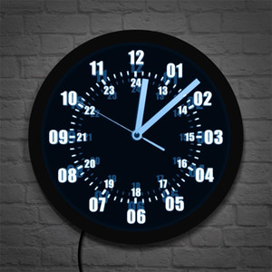 Military Time 24 Hours Display Neon Sign Wall Clock with LED Backlight Military World Time Zone Amateur Neon Sign LED Wall Clock LJ201211