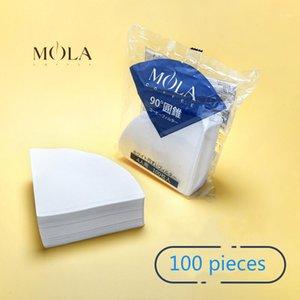 Giappone Sanyo Mola a mano Punch Coffee filter Paper V60 cono Dripper 4 tazza Caffè Drip Filter1