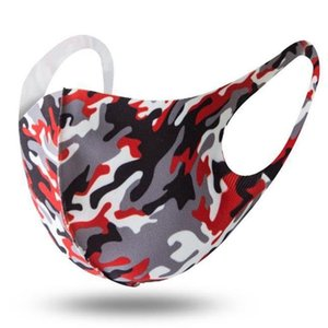 Camouflage Printing Fashion Mask Breathable Washable Mouth Nose Protection Breathing Unisex Mask Dustproof Anti-pollution PPD2579