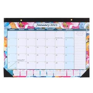 1 pc Nota-tomando calendário calendário notepad 2021 pendurado