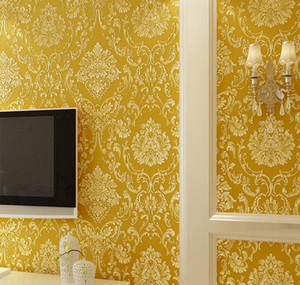 Modern Damask Wallpaper Wall Paper Embossed Textured 3d Wall Covering For Bedroom qylBLu powerstore2012
