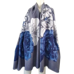 4PCS Flowers pattern Top Quality Ladies New Scarf three Seasons Universal Shawl Scarf Fashion Personality Unique Luxury Scarf