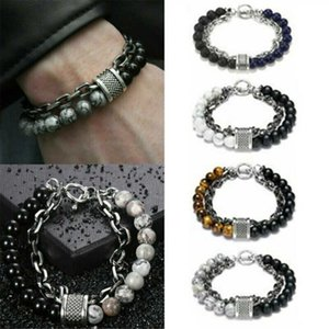 Fashion Male Bracelet Punk Tiger Jewelry Eye Beads Stone for Women Men Gift