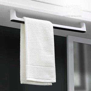 2020 Self-adhesive Towel Holder Rack Wall Mounted Towel Hanger Bathroom Towel Bar Shelf Roll Holder Hanging Hook Bathroom Organizer