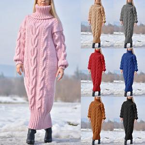 المرأة مصمم البلوز البلوز سترة اللباس طويلة الأكمام السلاحف الرقبة أزياء الخريف الشتاء الملابس النسائية عارضة سترة
