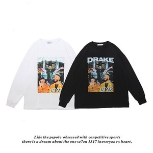 Fashion brand new hip hop Street creative personalized print loose Pullover Crew Neck Sweater cotton T-shirt for menYKPQJKQZSXKM