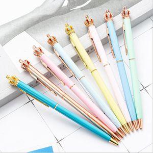 Милый мультфильм фантазия корона подарок ручка творческий цвет сенсорный экран шариковая ручка многоцветная ручка бар пресс металлическая оптовая емкостью