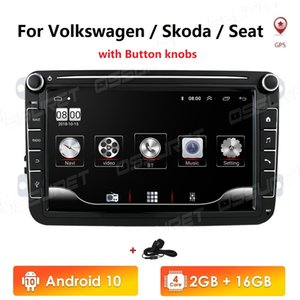 Auto Multimedia-Player Android 10 GPS 2 DIN Autoradio Radio für VW / Volkswagen / Golf / Polo / Passat / B7 / B6 / Sitz / Leon / Skoda