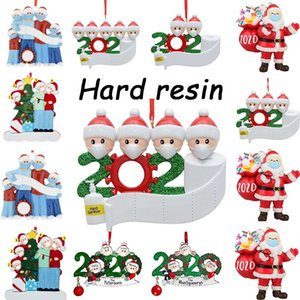 48 hours shipping, free shipping federal, DIY name greeting personalized Christmas decoration resin 2020 quarantine decoration
